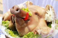 A Pigs head for eat Stock Photos