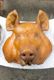 Pig's head. Respect the sacred ritual Stock Image