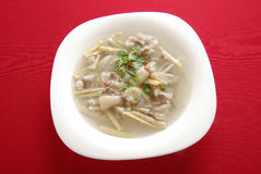 Pig's knuckles bamboo shoot soup Royalty Free Stock Photography