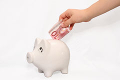 Pig safe box Royalty Free Stock Photo