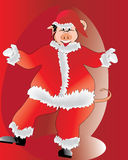 Pig Santa Clauss Stock Photo