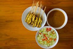 Pig satay in thailand Royalty Free Stock Image