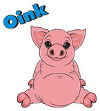 Pig say oink Stock Image