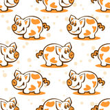 Pig seamless background Royalty Free Stock Images
