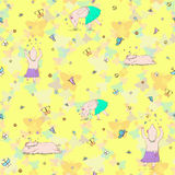 Pig seamless pattern stock illustration