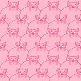 Pig seamless pattern. Piglet background. Farm animal texture. pi. Gs ornament. pink hog Royalty Free Stock Photography