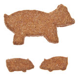 Pig Shaped Cookies Royalty Free Stock Images