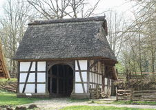 Pig Shed, Hessenpark Germany. Pig shed, built in 1827, shown as it was at the time of construction; it served to store fuel supplies and small implements. The Stock Photos