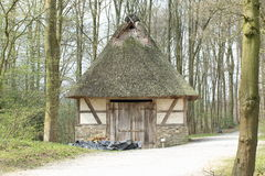 Pig Shed, Hessenpark Germany. Pig shed among the trees in open-air museum (Hessenpark) Hesse, Germany Stock Photo
