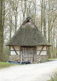 Pig Shed, Hessenpark Germany. Pig shed among the trees in open-air museum (Hessenpark) Hesse, Germany Stock Image