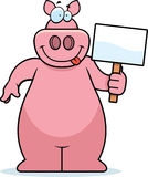 Pig Sign Royalty Free Stock Photography