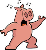 Pig Singing Royalty Free Stock Image