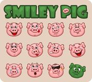 Pig smiley faces set. Pig smiley. set of emoticons pigs vector illustration vector illustration