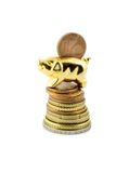 Pig on stack coin Stock Image