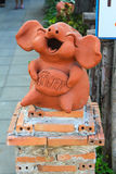 The pig statuary. At coffee shop Stock Images