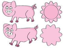 Pig Sticker Royalty Free Stock Images