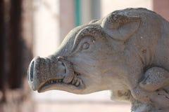 Pig stone gargoyle Stock Images