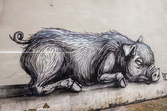 Pig - street art Royalty Free Stock Photos