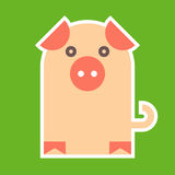 Pig symbol Stock Photos
