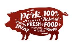 Pig symbol. Meat, pork vector illustration Stock Photo