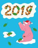 Pig - a symbol of the new year 2019! royalty free stock photos