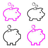 Pig symbols Royalty Free Stock Images