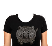 Pig t-shirt stock photos