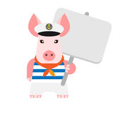 Pig with tablet Stock Image