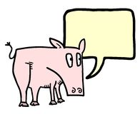 Pig talk Royalty Free Stock Photo