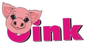 Pig talk oink Stock Photos