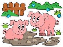 Pig theme image 5 Royalty Free Stock Photos