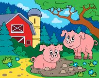 Pig theme image 7 Stock Images