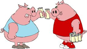 Pig Toast Royalty Free Stock Images