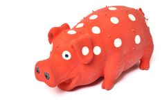 Pig toy. On a white background stock photography