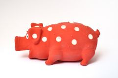 Pig toy. On a white background stock images