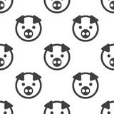 Pig, vector seamless pattern Royalty Free Stock Image
