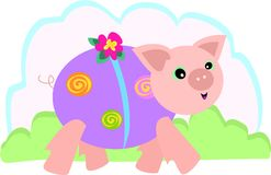 Pig Walk. This Pig loves to dress up and take a brisk walk everyday Royalty Free Stock Photos