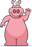 Pig Waving Royalty Free Stock Image