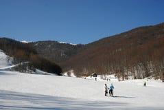 3-5 Pigadia ski center, Naoussa, Greece. Snowy slope on Vermion mountain, in 3-5 Pigadia ski center, Naoussa, Greece Stock Images