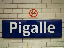 Pigalle, Paris, Frankreich stockfotos