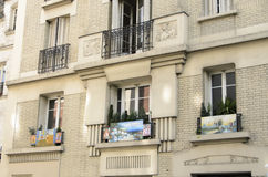 Pigalle, Paris. Panorama of the district Pigalle in Paris. Detail of street Stock Photos