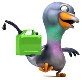 Pigeon d'amusement - illustration 3D illustration stock