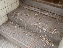 Pigeon droppings in the city Stock Photography