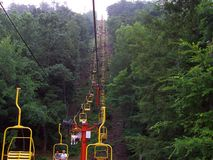 Pigeon Forge Tennessee bergelevator Fotografering för Bildbyråer