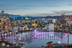 Free Pigeon Forge, Tennessee - December 3, 2017 : A Colorful Display From The Island Show Fountain Stock Images - 188398094