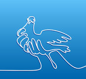 Pigeon in hands logo Royalty Free Stock Images