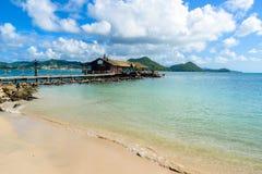Free Pigeon Island Beach - Tropical Coast On The Caribbean Island Of St. Lucia. It Is A Paradise Destination With A White Sand Beach Stock Photos - 144397623