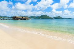 Free Pigeon Island Beach - Tropical Coast On The Caribbean Island Of St. Lucia. It Is A Paradise Destination With A White Sand Beach Stock Image - 144397931