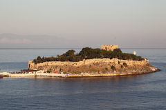 Pigeon Island and Fortress, Kusadasi - Turkey Royalty Free Stock Photo