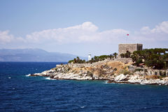 Pigeon island in Kusadasi Stock Photo